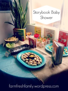 Yellow and Teal Storybook Baby Shower - Farm Fresh Family