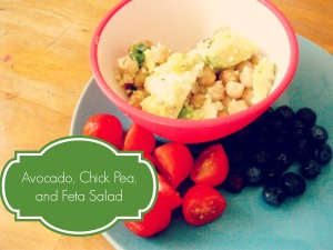 Avocado, Feta, and Chick Pea Salad - Farm Fresh Family