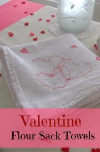 Valentine flour sack towels