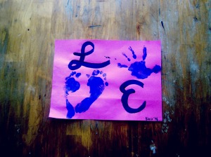 Handprint Footprint Love Painting