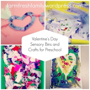 Valentines Day Sensory Bins and Crafts for Preschool - Farm Fresh Family